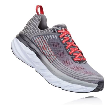 Hoka One One Men's Bondi 6 Alloy/Steel Gray (D or 2E Width)