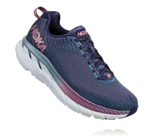 Hoka One One Women's Clifton 5 Marlin/Blue Ribbon (B or D Width)