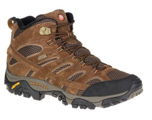 Merrell Men's Moab 2 Mid Earth Waterproof Hiker (D or 2E Width)