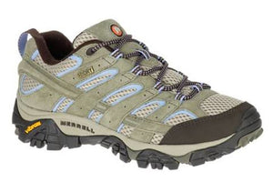 Merrell Women's Moab 2 Low Dusty Olive Waterproof Hiker (B or D Width)