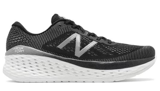 New Balance Women's Fresh Foam More, Black/White (B, D or 2E Widths)