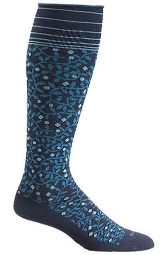 Women's New Leaf Compression Socks (20-30 mmHG) Navy by Sockwell