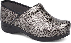 Dansko Women's Pro XP Clog - Silver Ornate Patent Leather