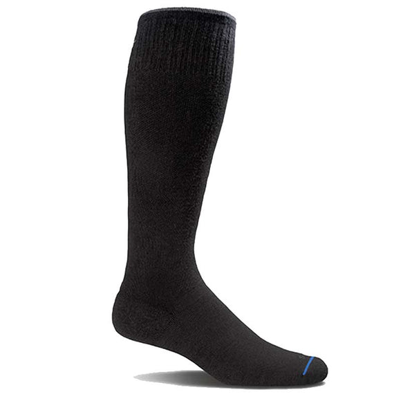 Men's Circulator Compression Socks (15-20mmHG) Solid Black by Sockwell