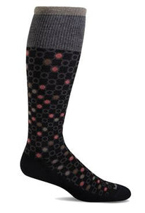 Women's Kinetic Compression Socks (15-20mmHG) Black by Sockwell