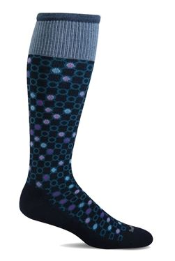 Women's Kinetic Compression Socks (15-20mmHG) Navy by Sockwell