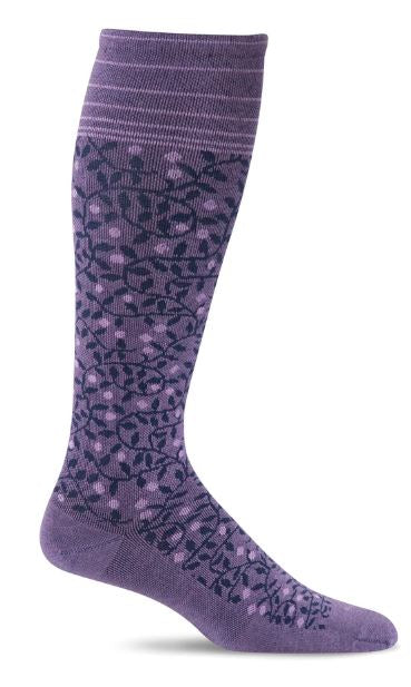 Women's New Leaf Compression Socks (20-30 mmHG) Plum by Sockwell