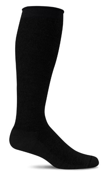 Women's Orbital Compression Socks (15-20mmHG) Solid Black by Sockwell