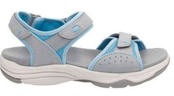 Clarks Women's Wave Grip Sandal Grey/Blue