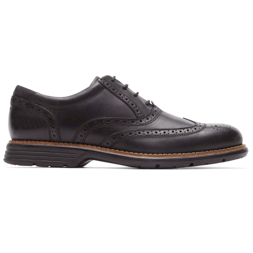 Rockport Men's Total Motion Fusion Black Wingtip Shoe (D or 2E Width)