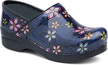 Dansko Women's Pro XP Clog - Navy Floral Patent Leather (Avail 9/25/17)