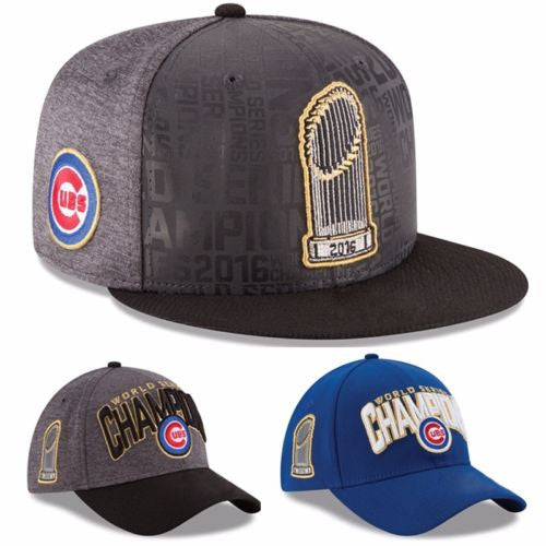 300daeaece2 Official Chicago Cubs 2016 World Series Champions Men Women Casual Loose  Baseball hats ...