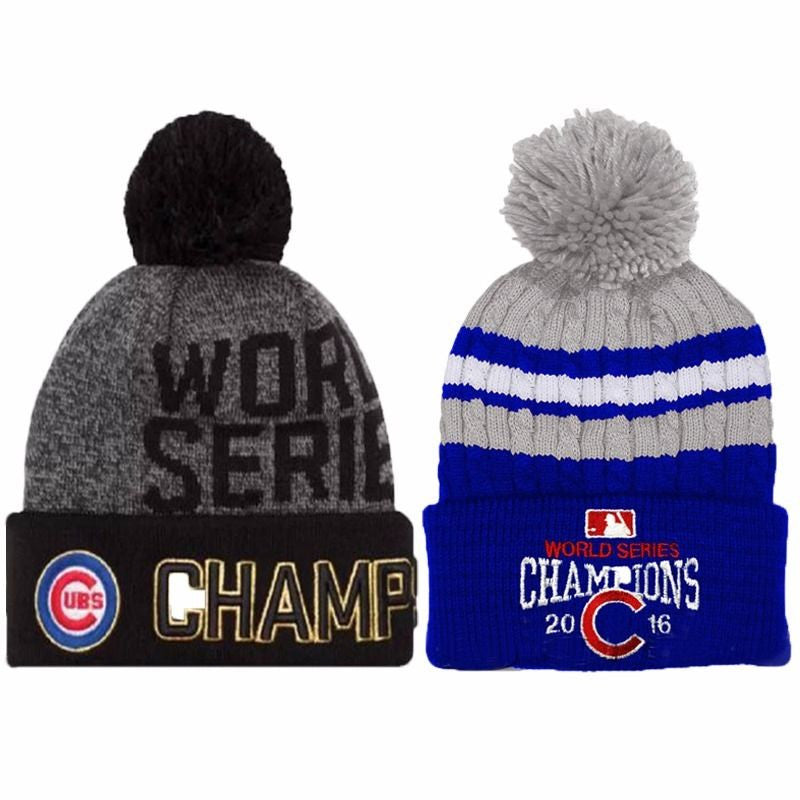 New Chicago Cubs 2016 World Series Champions Womens Mens Winter Warm Knitted  Beanie Hat ... daeb3de27bf