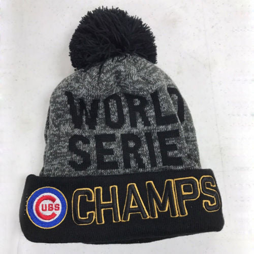 ... New Chicago Cubs 2016 World Series Champions Womens Mens Winter Warm  Knitted Beanie Hat ... e7f05b8bed
