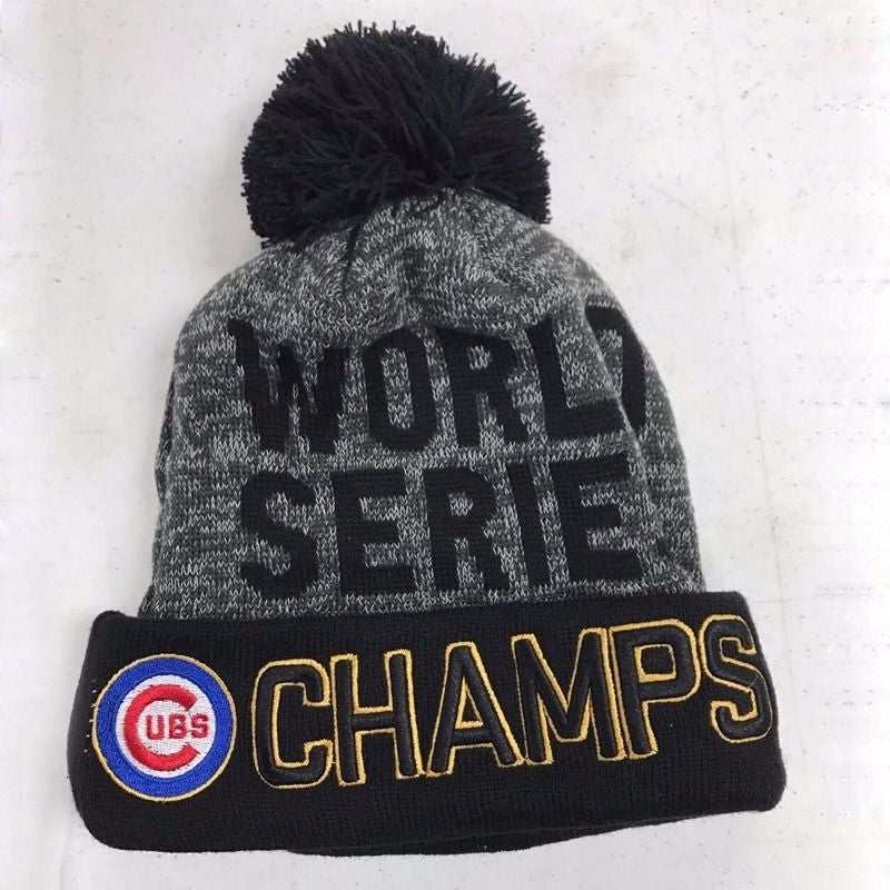 ... New Chicago Cubs 2016 World Series Champions Womens Mens Winter Warm  Knitted Beanie Hat ... 9343083bdfa