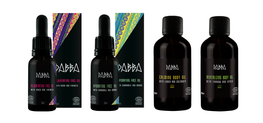 DABBA oils - 100% Organic Body Oils, Face Oils, COSMOS certified, Pure and Nordic