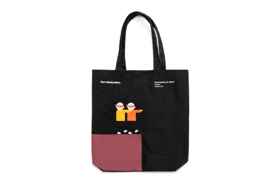 The Parable of Jesus, Large Tote – Blind