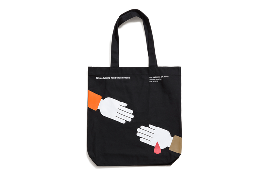 The Parable of Jesus, Large Tote – Hand