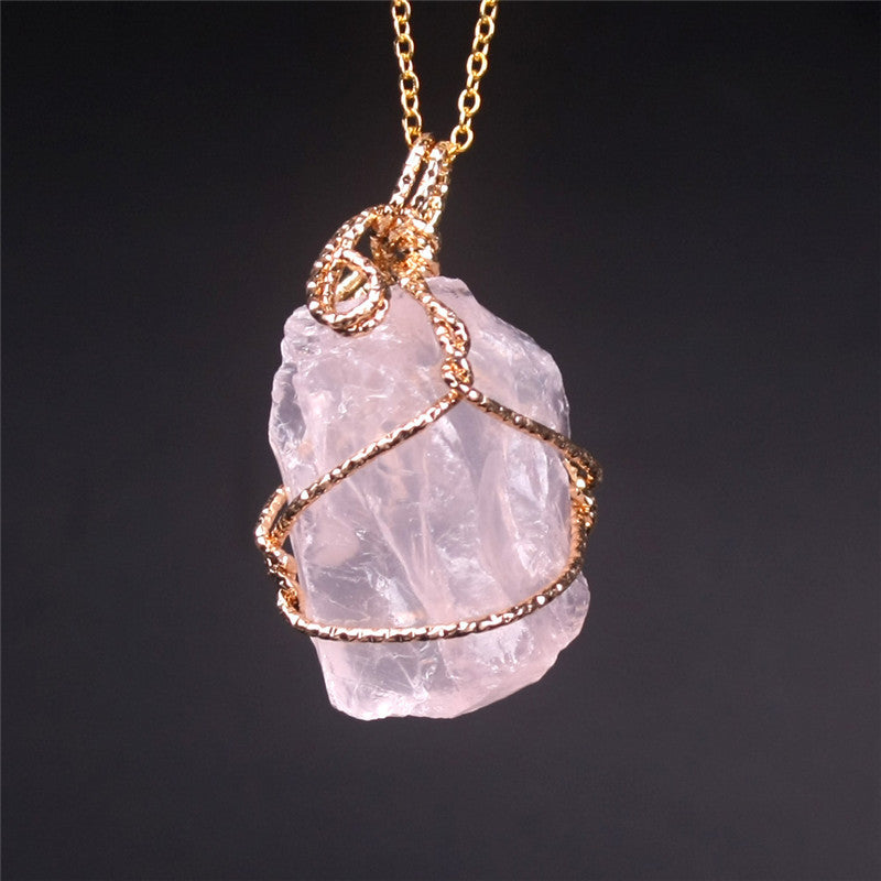 Natural amethyst and rose quartz crystal pendant with necklace for natural amethyst and rose quartz crystal pendant with necklace for women aloadofball Image collections