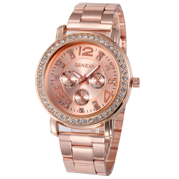 Women Luxury Rose Gold Watch