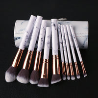 10pcs/set Marble Multifunctional Makeup Brush