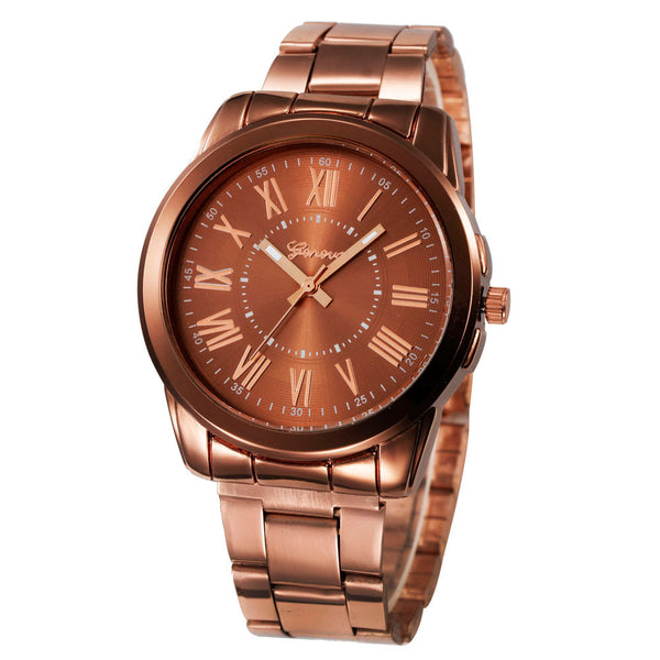 Fashion Simple Stainless Steel Analog Quartz Wrist Watch