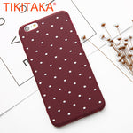 Dot Wave point Phone Cases For iPhone 6 6s 7 Plus 5 5s SE Case Ultra thin Soft TPU Back Cover For iphone 8 8 Plus Fitted Cases