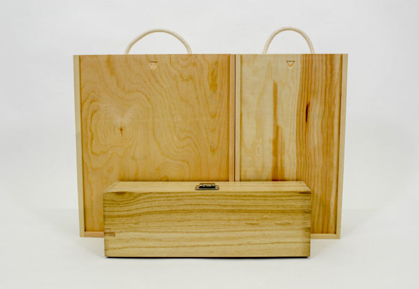 Wooden Box Gift Packaging with Wood Shavings