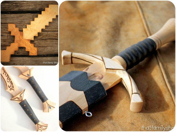 Replica Wood Swords, from Film & Games