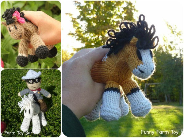 Knitted Ponies