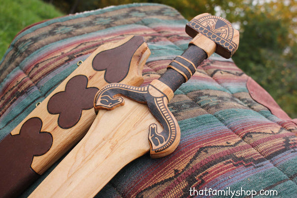 Eowyn's Sword Lord of the Rings Wooden Replica Rohan Weapon Movie/Costume Prop-thatfamilyshop.com