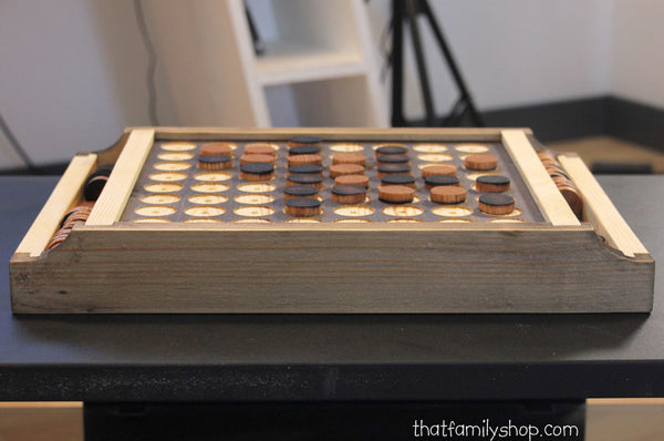 Reversi/Othello Wooden Handcrafted Beautiful Board Game-thatfamilyshop.com