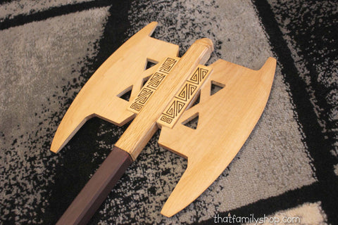 Gimli's Double-Headed Axe Lord of the Rings Wooden Replica-thatfamilyshop.com