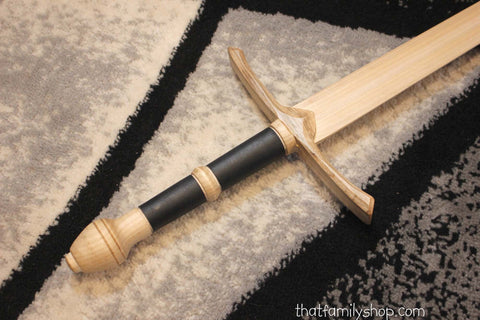 Aragorn's Strider Ranger Sword LOTR-Inspired Wooden Replica from Lord of the Rings-thatfamilyshop.com