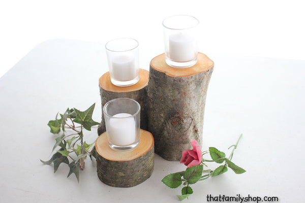 3-Log Centerpiece Stand Display - thatfamilyshop.com
