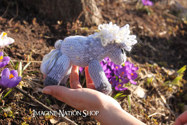 Sprinkle: Mini Pony, Filly, Plush Horse, Natural Waldorf Toy - thatfamilyshop.com