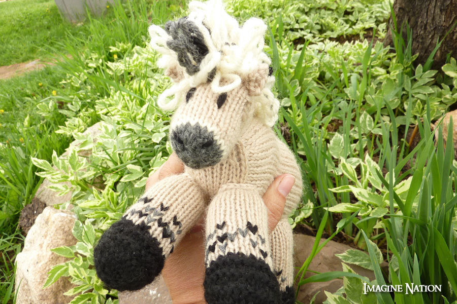 Molly: Fjord Horse Pony Toy Stuffed Animal Toy Horse - thatfamilyshop.com