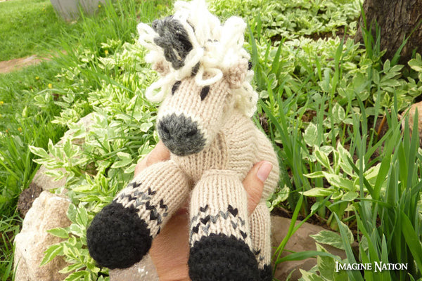 Molly: Fjord Horse Pony Toy Stuffed Animal Toy Horse-thatfamilyshop.com