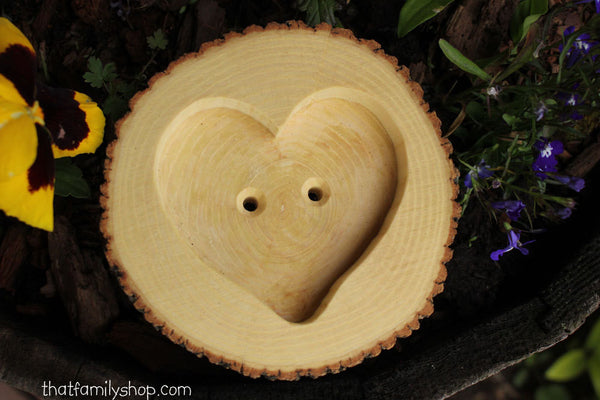 Natural Bark Log Ring Bearer Pillow/Dish, Woodland Wedding Decor - thatfamilyshop.com