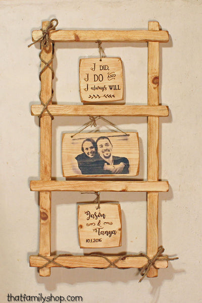 Wedding Couple Portrait Rustic Wall-Hanging Custom Art Decor Gift-thatfamilyshop.com