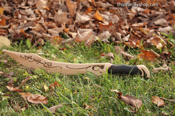 Aragorn Dagger Wooden Lord of the Rings Wooden Prop Movie Costume Knife Sword-thatfamilyshop.com