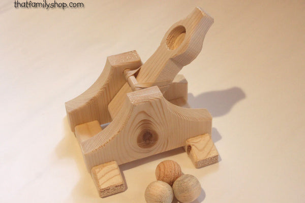 Toy Catapult Launchers Wooden Game-thatfamilyshop.com