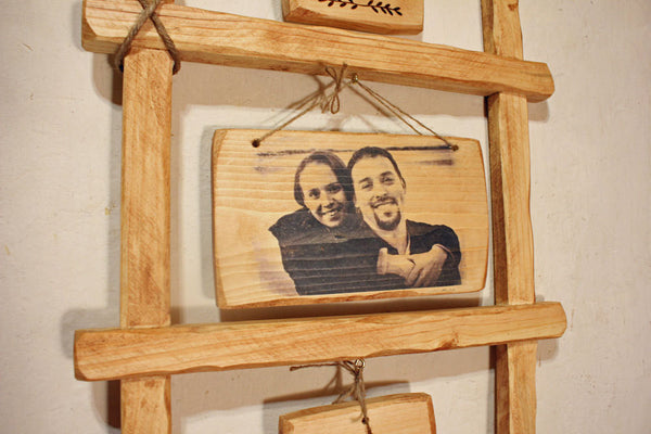 Wedding Couple Portrait Rustic Wall-Hanging Custom Art Decor Gift - thatfamilyshop.com