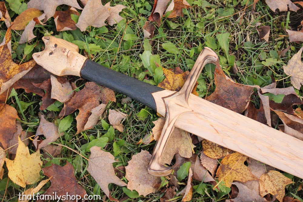 Longclaw-Inspired Sword of Jon Snow Game of Thrones GOT Wood Replica - thatfamilyshop.com