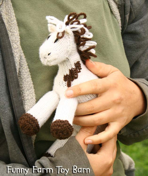 Missy: Paint Pony Stuffed Animal Horse Knitted Paint Girl's Waldorf Toy All Natural Wool-thatfamilyshop.com
