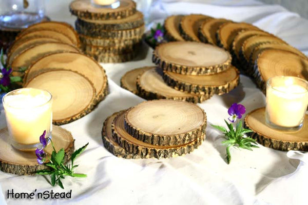 Rustic Wedding Coasters Table Decoration Ash Wood Mason Jar Stands Party Favors-thatfamilyshop.com