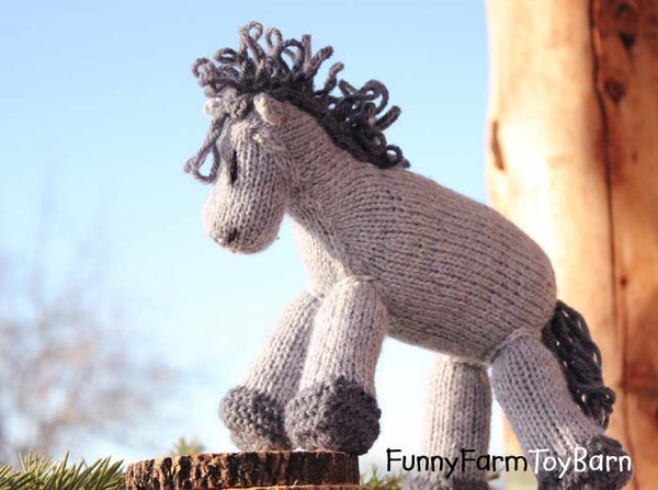 Franklin: Blue Roan Pony Stuffed Animal Waldorf Toy Horse Baby Boy Shower Gift-thatfamilyshop.com