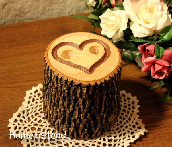 Engraved Heart Pen Holder Table Rustic Wedding Guest Book - thatfamilyshop.com