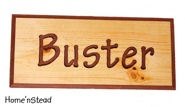 Customizable Engraved Wood Name Plaques Pet Animal Sign Stall Name Signs Wood Dog House Plaque - thatfamilyshop.com
