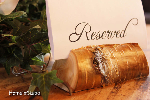 Rustic Wedding Card Stand Reserved Table Numbers Place Setting Business Card Holder-thatfamilyshop.com